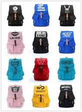 EXO SUPER JUNIOR BIGBANG 2PM BF SJ G-DRAGON CANVAS SCHOOL BAG BACKPACK KPOP NEW