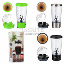 LAGUTE Electric Cyclone Protein Juice Coffee Blender Mixer Cup 450ml 16oz Black