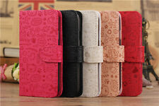 5 Colors Magic Lucky Girls Wallet Pouch Flip PU Leather Case for Samsung Phones