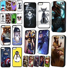 Various New Fashion Painted Pattern Hard Back Case Cover For iPhone 4 4S 5 5S 5C
