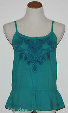 ~ SONOMA~Woman's Lake Blue Embroidered Adjustable Strapes Top~Size S, L ~NWT