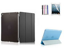 Slim Smart Magnetic Leather Case Cover for ipad 5 6 air 2 + Stylus + Screen Film