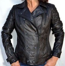 Affliction Women's - LIVE FAST - Leather Jacket - Biker - NEW - Black