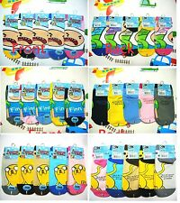 "Adventure Time Finn&Jake Teens Socks -3 different pairs/ 8.5""-9.5""/ Color Vary"