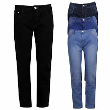 Ladies Womens Plus Size Button and Zip Fastening Straight Leg Jeans