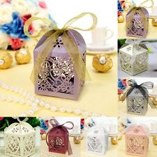 10 pieces Love Heart Party Wedding Favor Ribbon Candy Boxes Gift Box
