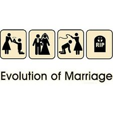 Evolution of Marriage Funny T-Shirt & Tank Tops All Sizes & Color