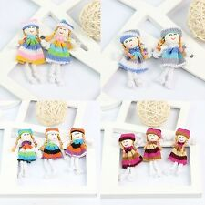 10 New Hot Colorful Pretty Handmade Yarn Cloth Mini Doll Puppet Baby Soft Toy