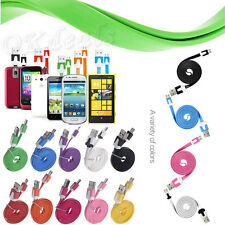 1M 2M PLAT NOUILLES MICRO USB DATA SYNC CABLE CHARGEUR PR GALAXY S3/4 NOTE2 HTC