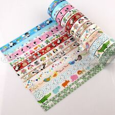 1X Decorative Cartoon Design Opp Tape Sticky  DIY Stationery Adhesive Sticker