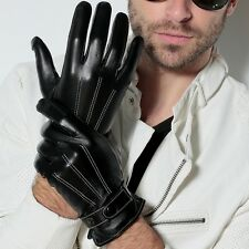 Men Nappa Leather Soft Suede warm Lined Winter warm Gloves police style