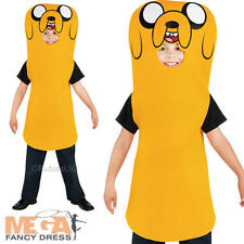Jake The Dog Boys Adventure Time Fancy Dress Kids Finn Brother Childs Costume