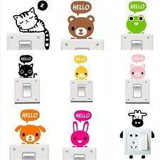 Hand Carving Cute Cat Dog 10cm Light Switch Vinyl Stickers Wall Stickers Decals