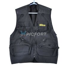 New black Cotton photographer photo vest 5 sizes for Nikon fans D5000 D90 D700