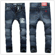 Hot Men`s New Stylish Designed Straight Simple Style Trousers Casual Jean Pants
