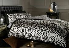 Tiger Print Brown Duvet Cover Bedding Set Single Double King Size