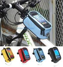 Bike Bicycle Frame Pannier Front Tube Bag Pouch for iPhone 5S 5C 5 Galaxy S5 GPS