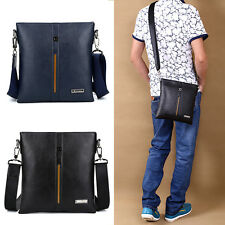 Men Leather Single Shoulder Casual Business Holder Briefcase Messenger Bag