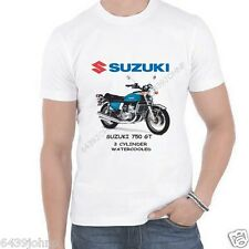 SUZUKI 750 GT, TRIPLE 2 STROKE, WATERCOOLED 1971-1977, BIKER ENTHUSIAST T SHIRT