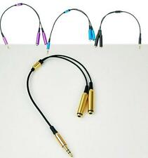 FAS 3.5mm 1 Male to 2 Female Earphone Headphone Audio Extension Y Splitter Cable