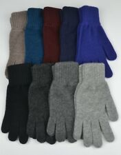 Mens 100% Scottish Cashmere Gloves. black,navy,blue,red,grey,brown.