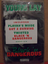 Young Lay - Black 'n Dangerous Cassette BRAND NEW with HYPE STICKER Rare RAP