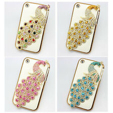 1x 3d bling leather peacock diamond crystal case cover for iphone nokia lg htc