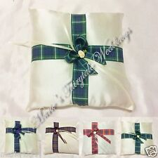 WEDDING ACCESSORIES RING CUSHION PILLOW WITH ASSORTED OF SCOTTISH TARTAN