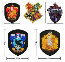 Hogwarts School Harry Potter Crest Iron / Sew On Patch Embroidered Motif Badge
