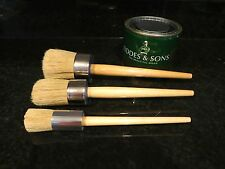 Professional Round Wax  Stencil Brushes ~ Fiddes & Sons ~ Use W/ Chalk Paint!