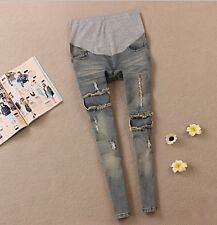 2014 Spring Autumn fashion maternity Prop belly pants Jeans for pregnant women
