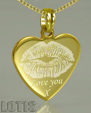 Customised, PHOTO ENGRAVED Pendant Gold Plated - your image and text engraved.