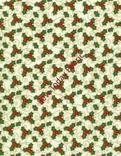 Tossed Holly White by Shelly Comiskey -Believe- 6242-44 (sold by the 1/2 yard )