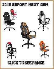 ULTRA COMFY LUXURY DESIGNER GAMING RACER CHAIRS - RECLINING + HEIGHT FUNCTIONS
