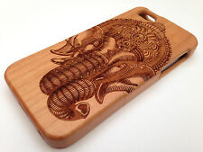 LUXURY CARVED HARD WOODEN PROTECTOR CASE REAL SOLID WOOD APPLE IPHONE 4/4S 5/5S