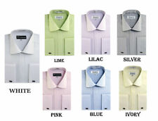 Men's  Striped Dress Shirt Tone On Tone French Cuff Style SG-30
