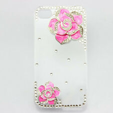 1x 3d bling clear case flower diamond crystal cover for iphone nokia htc ipod
