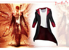 Devil May Cry DMC Pleather Coat Jacket Dante Game Costume Cosplay