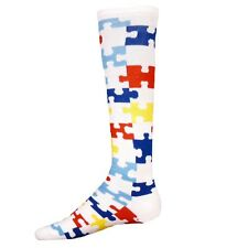 Red Lion Puzzle Autism Awareness Socks