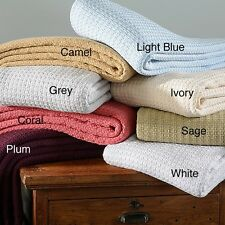 100-Percent Cotton Blanket Comfy Snuggle Warm Cozy Comfortable Machine-Washable