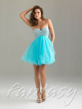 Turquoise Short Jeweled Prom/Cocktail/Party/Homecoming Dress/SZ 4-6-8-10-12-14