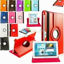 "10.1"" tablet Rotating PU Leather Case Cover For Samsung Galaxy Tab2 P5100 P5110"