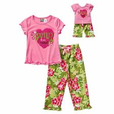 """Dollie & Me  4-14 and 18"""" Doll Matching pajamas clothes outit fit american girl"""