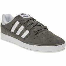 New Mens adidas Grey Pitch Suede Trainers Retro Lace Up