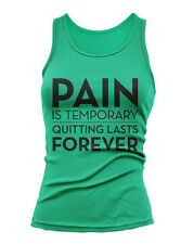 PAIN IS TEMPORARY - Womens Fitness & Crossfit Tank Top - Yoga Pilates S-2XL