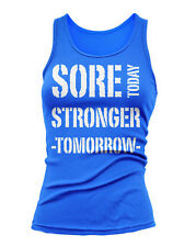 SORE TODAY STRONGER TOMMORROW  !!  Womens Fitness Crossfit Tank Top Yoga S-2XL