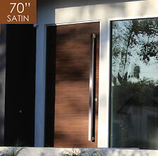 """Pull Push 70"""" Handles for  Entrance Entry Front Door, Rectangle, Satin Finish"""