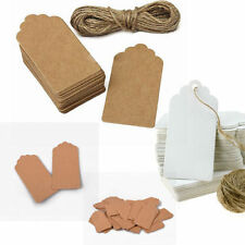 100pcs Kraft Paper Tags White Favour Lolly Wedding Party Gift Bag Name Label