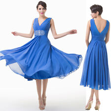 Top Designer Women Chiffon Prom Formal Party Cocktail Dress Wedding Evening Gown
