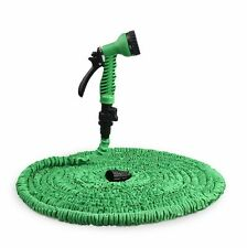 25FT 50FT 75FT 100FT 3X Expanding Flexible Garden Car water Hose pipe+Spray Gun